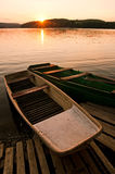 Boats at sunset Royalty Free Stock Photo