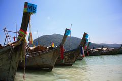 Boats on the Surin Islands. Stock Photos
