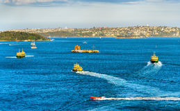 Boats in Sydney Harbour - Australia Royalty Free Stock Photography