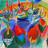 Boats. Symbolic image of boats in the style of watercolor Royalty Free Stock Photography