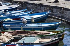 Boats in Syracuse, Italy Stock Images