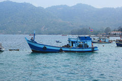Boats take tourists to dive. April 8, 2014 tourist boats waiting to go snorkeling at Koh Tao, Surat Thani, Thailand Royalty Free Stock Photography