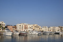 Boats in the Tala Bay. Stock Image