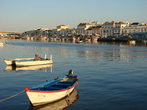Boats in Tavira Royalty Free Stock Photos