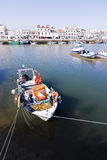 Boats on Tavira sea channel Royalty Free Stock Photography