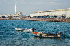 Boats in Tel Aviv Stock Photography