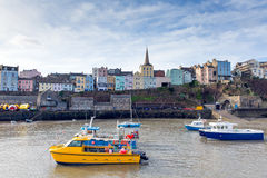 Boats in Tenby harbour Pembrokeshire Wales UK Royalty Free Stock Photos