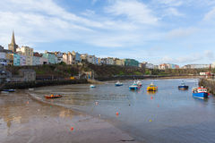 Boats in Tenby harbour Pembrokeshire Wales UK Royalty Free Stock Photo