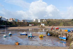 Boats in Tenby harbour Pembrokeshire Wales UK Royalty Free Stock Image