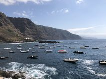 The boats of Tenerife stock images