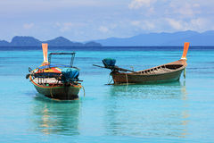 Boats in Thai sea Stock Images