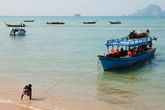 Boats in Thailand Royalty Free Stock Photos