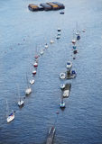 Boats on Thames river. Stock Photos
