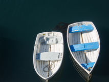Boats tied to the dock Royalty Free Stock Photos
