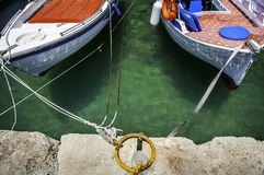 Boats Tied Together Stock Images