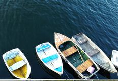 Boats. Tied up stock photo