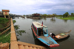 Boats at Tonle Sap Lake Royalty Free Stock Images
