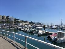 Boats in Torbay Summer Harbour royalty free stock photos