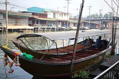 Boats for tourism in Asian countries on the river.  royalty free stock photo