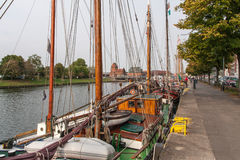 Boats on Trave Stock Photography