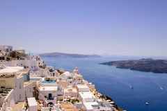View of Fira in Santorini Royalty Free Stock Photos