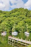 Boats and trees on Windermere Royalty Free Stock Images