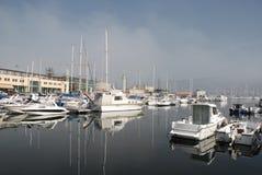 Boats in Trieste Marina Stock Photo