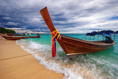 Boats in the tropical sea.  Thailand Stock Images