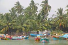 Boats in tropics (Sri Lanka, Trincomalee) Royalty Free Stock Photo