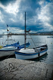 Boats in Tsarevo harbour, Bulgaria Royalty Free Stock Photography