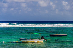 Boats and Turquoise Water Royalty Free Stock Image