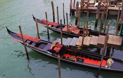 Boats typical Venetian gondola Royalty Free Stock Photography