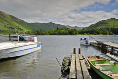 Boats on Ullswater Royalty Free Stock Photo