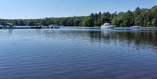 Boats on Union River Ellsworth Maine Royalty Free Stock Image