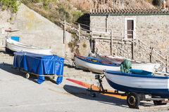 Boats in Valldemossa port Stock Image