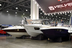 Boats  Velvette  in the exhibition Crocus Expo in Moscow. Royalty Free Stock Photography