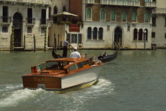 Boats on Venice canal Stock Photography