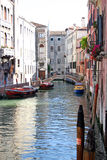 Boats on Venice canal Royalty Free Stock Photos