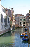 Boats on Venice canal Stock Photo