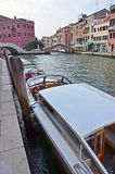 Boats on Venice channels Stock Photo
