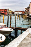 Boats in Venice, Italy. Detail of small boats in Venice, Italy Stock Images