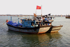 Boats, Vietnam. Fishing boats tied up, Danang, Vietnam Stock Photography