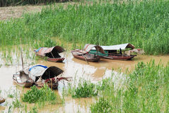 Boats in Vietnam Royalty Free Stock Photography