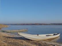Boats on the Vistula. Fishing boat on the Vistula Royalty Free Stock Photo