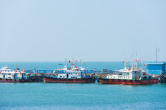 Boats in Vungtau, Vietnam Royalty Free Stock Photos