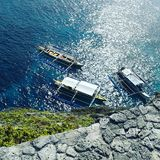 Boats Are Waiting. Fortune Island, ocean , adventure Royalty Free Stock Photos