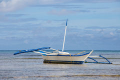 Boats waiting for tourists to travel between the islands. El Nido, Philippines Stock Photos