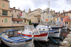 Boats at Ward Island in Martigues, France Stock Photography