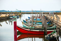 Boats in water canal Royalty Free Stock Image