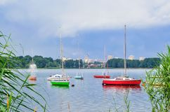 Boats on the water. Royalty Free Stock Photo